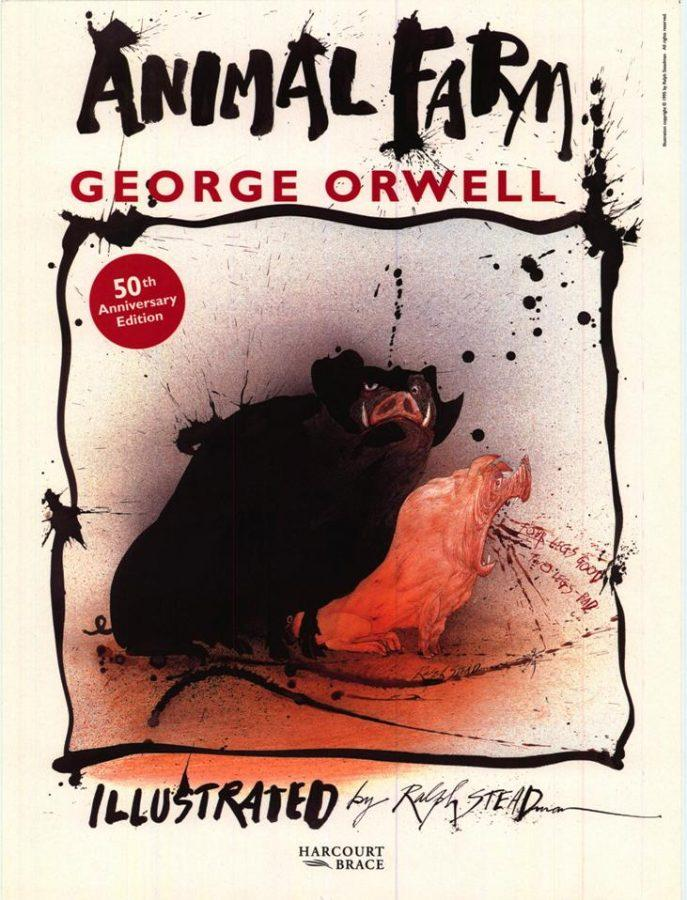 The 50th Anniversary Edition of Animal Farm includes creepy illustrations by Ralph Steadman that add to the mood of the story.