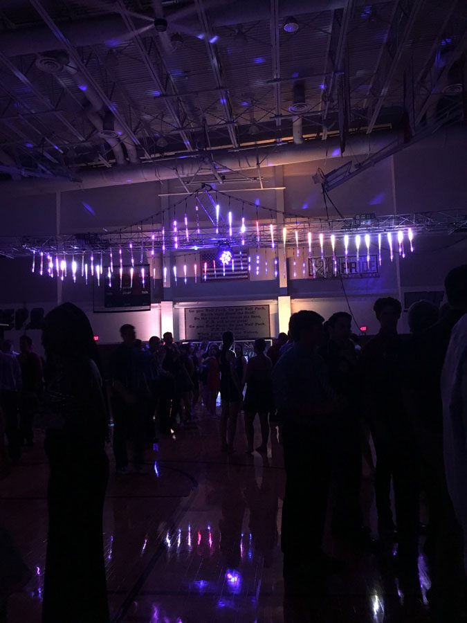 The decorations at this year's Homecoming dance complemented the theme City of Lights.