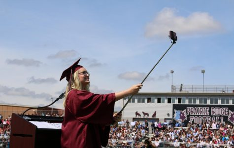 Hailey Baker encouraged the class of 2017 to take selfies using #PRFamily2017.