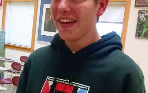 Sophomore Collin Preves loves to tell jokes, perform on stage, and aspires to be Timon in The Lion King someday.