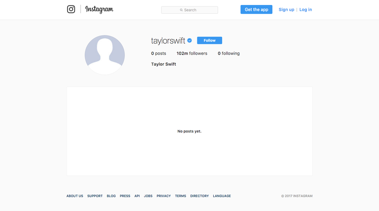 Taylor+Swift%27s+empty+Instagram+page+caused+much+speculation+among+her+fans.