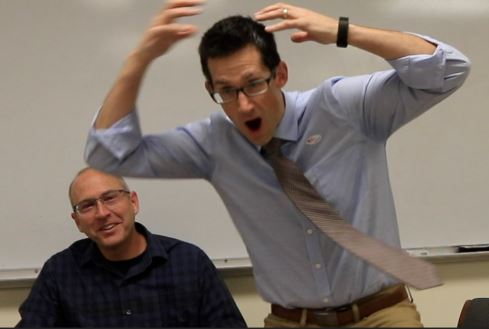 What is Mr. Jensen doing? Find out in this week's Truth or Dare, featuring Mr. Blakewell and Mr. Jensen.