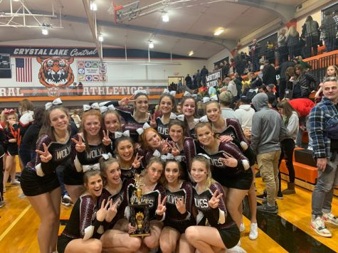 PRHS Cheer took 2nd place at the CLC invititational tournament in December.