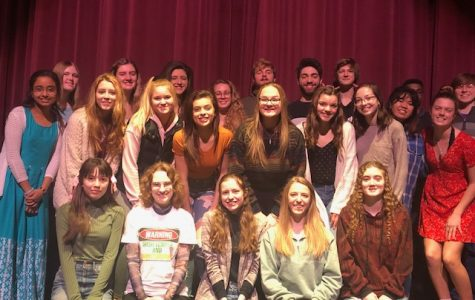 Mia Coliflores and Payton Andrlik said their favorite class was Creative Writing, a senior English class that hosts a poetry slam in the spring. This was one of the last events in the PR auditorium before the stay-at-home order began.