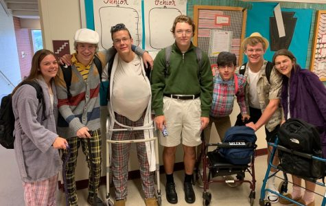 On unofficial senior citizen day during Homecoming week, this group of seniors demonstrated how they might look in fifty years. This question though asked them to predict what they will be doing in 15 years.