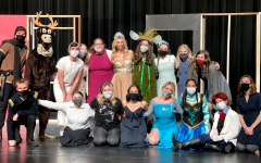 Cast and crew for this year's 12-hour senior musical of Frozen pose during the dress rehearsal.