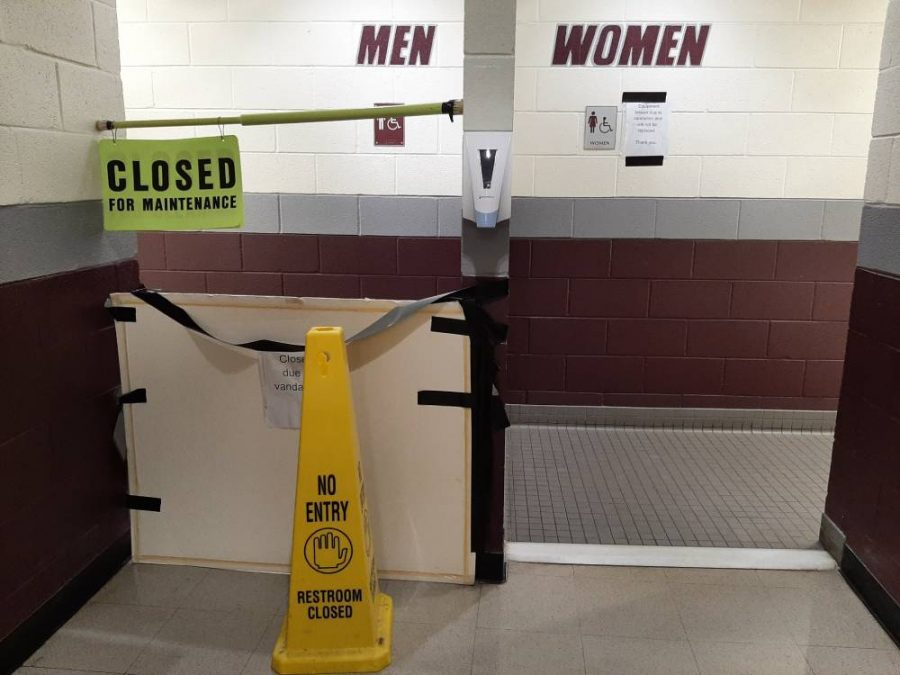 Several bathrooms at Prairie Ridge were closed in the last week due to vandalism.